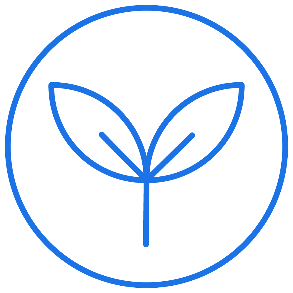 blue circle lead icon