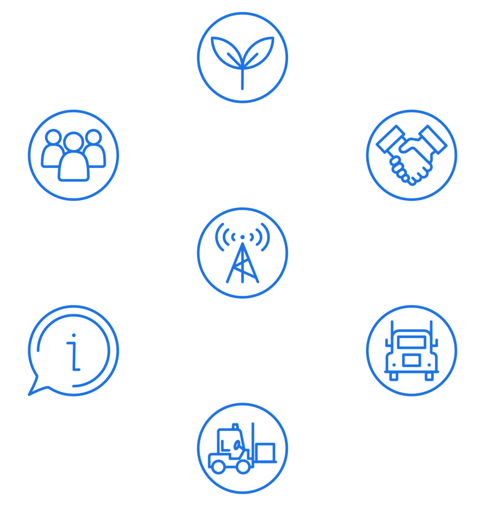 Mix of Icons that Represent Wesbell