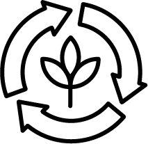 recycle symbol with leafs icon