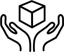 hands with box icon