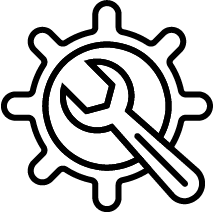 gear with tool icon